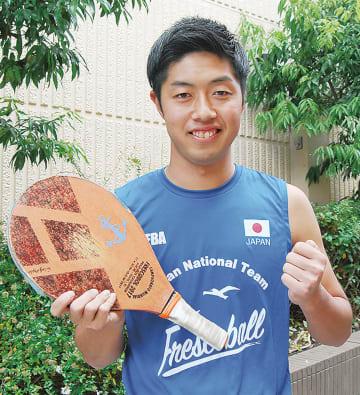 ガッツポーズを決める斉藤選手