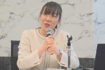 久野由詠弁護士(11月30日、東京・霞が関の弁護士会館)