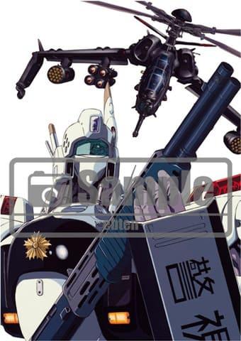 「機動警察パトレイバー30周年記念展~30th HEADGEAR EXHIBITION~」で販売される「機動警察パトレイバー」復刻コレクション 出渕裕原画イラスト(イングラム)(C)HEADGEAR