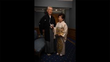 本庶さん 和服姿で出席 ノーベル賞授賞式