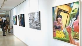 第52回高文連室蘭支部美術展で最優秀賞を受賞した8人の企画展