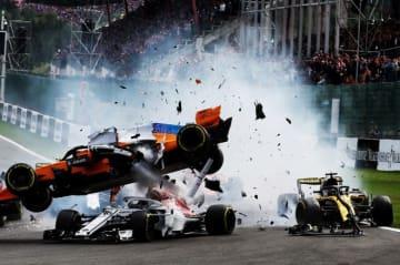 FIA「エアロスクリーンではルクレールを守れなかったはず」。スパでの大クラッシュ調査結果が明らかに