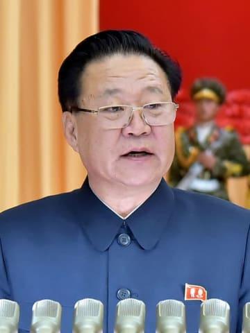 崔竜海朝鮮労働党副委員長=4月(朝鮮通信=共同)