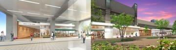 全国初となる駅の高架下に設置されるキャンパス。「武庫女ステーションキャンパス」のイメージ図。(阪神電鉄の発表資料より)