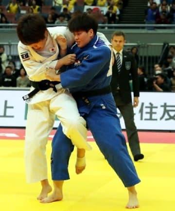 佐藤「勝ち続けた先に五輪」 福岡・中間市出身 女子78キロ級意地のV