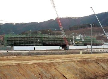 整備が進む津波伝承館が入る施設