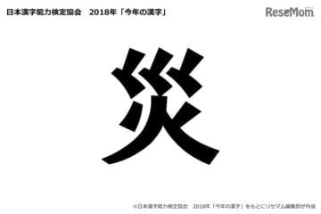 今年の漢字2018「災」