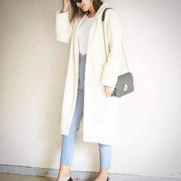「汚れちゃう」って敬遠するのはもったいない! 白コートの魅力を再確認♡