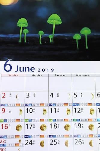 【月の満ち欠けも日ごとに載せている和歌山県串本町観光カレンダー】