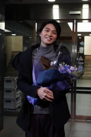 月9ドラマ「SUITS/スーツ」の撮影を終えた磯村勇斗さん(C)フジテレビ