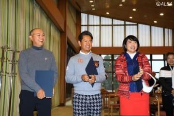 谷口徹、藤田寛之、大山志保がキャプテンとしてイベントを盛り上げた(撮影:米山聡明)