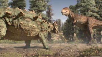 12月11日、映画「ゴーストバスターズ」に登場するキャラクターに似ているとして命名された恐竜「ズール」。その化石が、カナダのロイヤル・オンタリオ博物館で公開される予定だ。提供写真 - (2018年 ロイター)