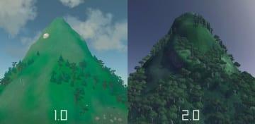 山になるシミュレーター『Mountain』がバージョン2.0に! ビジュアルなどが強化