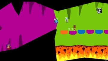 変化し続けるステージ上で簡単バトル!1人でもみんなでも遊べるアクションゲーム「Runbow」が配信開始!