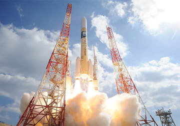 いぶき2号を搭載したH-2A 40号機の打ち上げ(提供=JAXA)