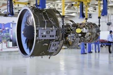 「MRJ」に搭載予定の新型エンジン=愛知県小牧市(三菱重工業提供)