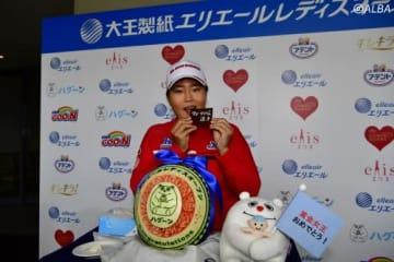 4度目の賞金女王となったアン・ソンジュ(撮影:上山敬太)