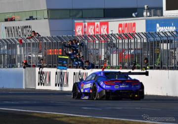 2018年のSUPER GT最終戦もてぎ、GT500王座に輝く#100 NSX(レースは3位)。