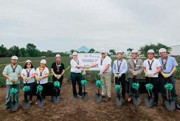ドール・フィリピンの工場内に、SBVCがバイオガス発電設備を建設する=南コタバト州(伊藤忠商事提供)