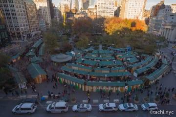 2018年ニューヨークで一番人気のホリデーマーケット「ユニオンスクエア」