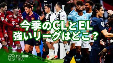 今季の欧州カップ戦(CLとEL)で最も勝ち点を稼いでいるリーグは?