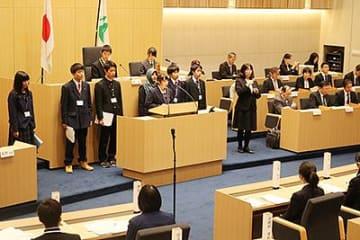 若者らしい施策提案 高校生とやま県議会