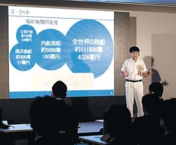 初のビジネスコンテスト開催 三谷産業、8人が発表