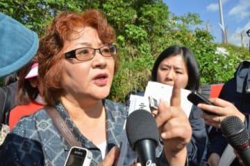 「また立ち上がる」 翁長前知事妻・樹子さん ゲート前抗議へ