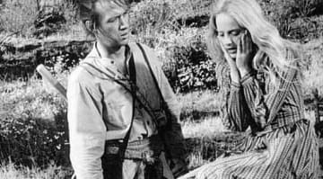 David Carradine & Sondra Locke In Kung Fu in 1974.