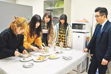 「もつパフェ」栄養満点 富山短大生が卒業研究 苦手な人も食べやすく