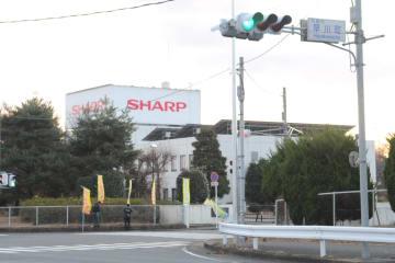 テレビ生産が終了するシャープ栃木工場=14日午後、矢板市早川町