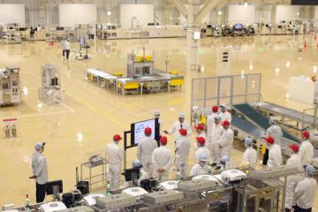 完成したデンソー岩手新工場の生産エリア