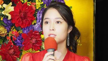 NHKの正月時代劇「家康、江戸を建てる」の記者会見に出席した広瀬アリスさん