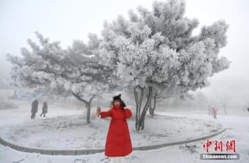 松花江ほとりに「5つ星」級の樹氷現る―吉林省