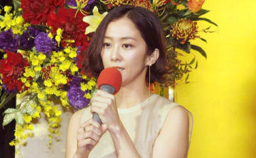 NHKの正月時代劇「家康、江戸を建てる」の記者会見に出席した優香さん