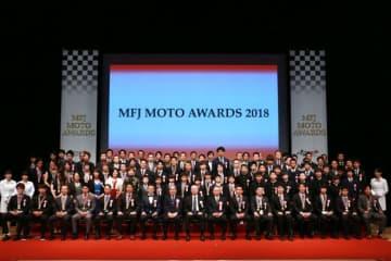 2018年MFJ表彰式に国内二輪カテゴリーの王者が集結。高橋国光氏と伊藤光夫氏が殿堂顕彰者に選ばれる