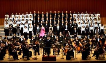 力強い歌声が響き渡ったのべおか「第九」演奏会=15日夜、延岡市・延岡総合文化センター