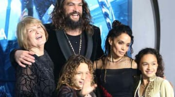 Jason Momoa, Lisa Bonet & Kids Lola and Nakoa-Wolf Attend Premiere Of 'Aquaman'