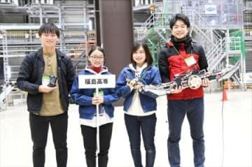 福島高専3位(アイデア賞) 楢葉で廃炉創造ロボコン