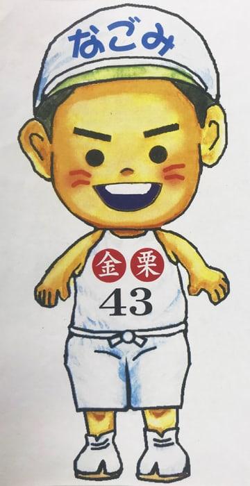 少年時代の金栗四三をモデルに和水町が作製したマスコットキャラクター(同町提供)
