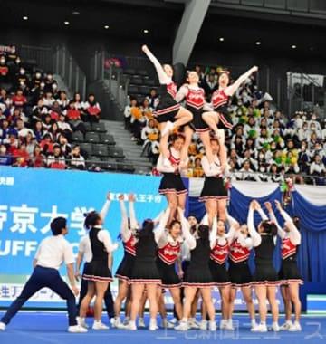 チアリーディング1600人 笑顔弾む 高崎で全日本学生大会
