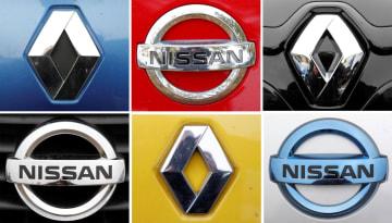 ルノーと日産自動車のロゴ(ロイター=共同)
