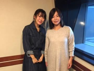 大久保佳代子さん(右)と、番組パーソナリティの坂本美雨(左)