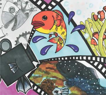 最優秀賞に選ばれた内海さんの「色々な時代を映す映写機フィッシュ」