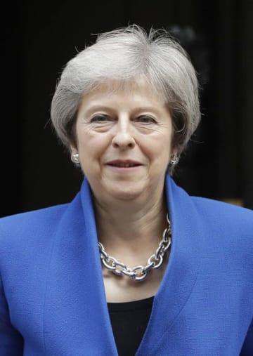 英国のメイ首相(AP=共同)