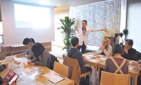 地域カフェで初めて開かれた住民対象の勉強会