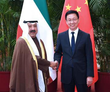 韓正氏、クウェート第1副首相兼国防相と会談