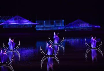 大型歌舞劇「帰来三峡」初日公演 重慶市奉節