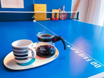 【卓球・現地ルポ#韓国編】おしゃれカフェに置かれた卓球台  その意外な理由とは