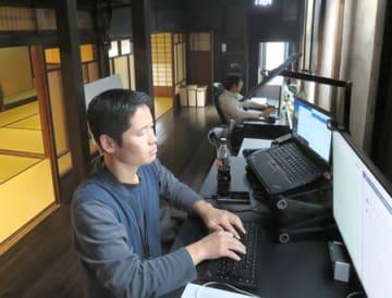 Sansanが京町家にオープンした「京都ラボ」。東京のIT企業が次々と京都市内で拠点を開設している(京都市中京区麸屋町六角下ル)